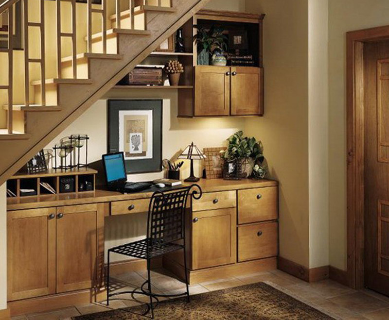 Use the space under stairs wisely